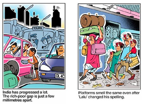 Editorial cartoons provide much-needed commentary on India's transport issues. Images via Times of India (h/t to Sudhir Ghota of CAI-Asia)