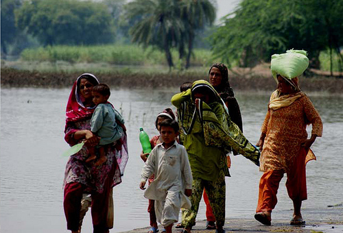 Flooding in Pakistan. Photo by the United Nations Development Programme.