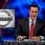 """Stephen Colbert Mocks Nissan LEAF's """"Wave"""" Campaign"""