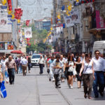 Pleasant cities can be natural places for physical activity, witnessed in Istanbul's lively streets. Photo by HBarrison.