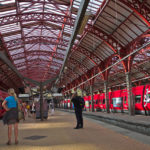 Copenhagen, Denmark is often cited as a sustainable city. Photo of Copenhagen's Central Station by Frank Schmidt.