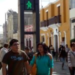 A transformation on calle Mercaderes, Arequipa