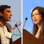 Sudhir Gota and Fei Li present at Transforming Transportation 2014. Photo by Aaron Minnick/EMBARQ.