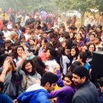 A crowd of urban residents enjoy Raahgiri Day in Gurgaon, India. Photo by EMBARQ.