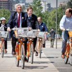 Bikesantiago launch in Santiago, Chile. Photo by Claudio Olivares Medina/Flickr.
