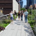 Green spaces in cities, such as New York's High Line, promote an active, sustainable lifestyle for city residents. Photo by David Berkowitz/Flickr.