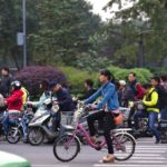 The rise of electric bikes in China necessitates infrastructure and policy shifts to ensure safety for all road users. Photo by Maciej Hrynczyszyn/Flickr.