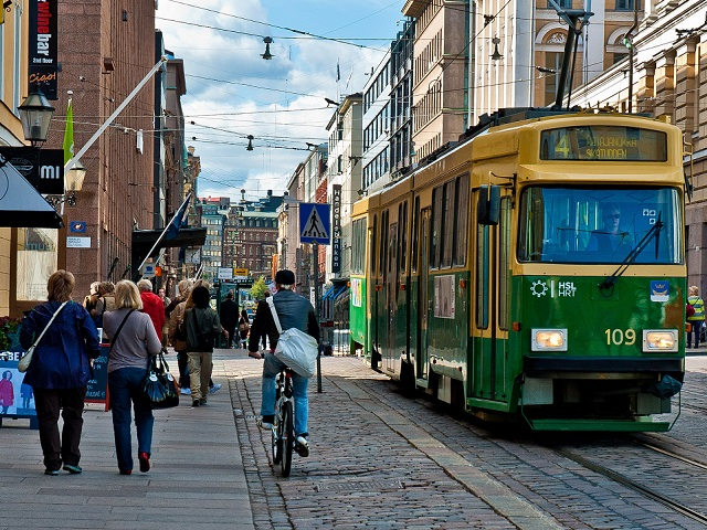 """Helsinki's """"mobility on demand"""" system will integrate a variety of transport options and could make car ownership obsolete. Photo by Justin Swan/Flickr."""