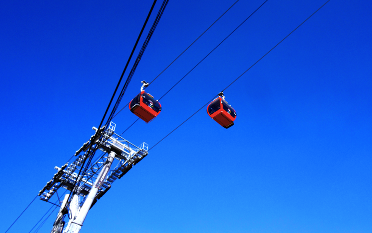 The red line of Mi Teleférico. Photo by Gwen Kash.