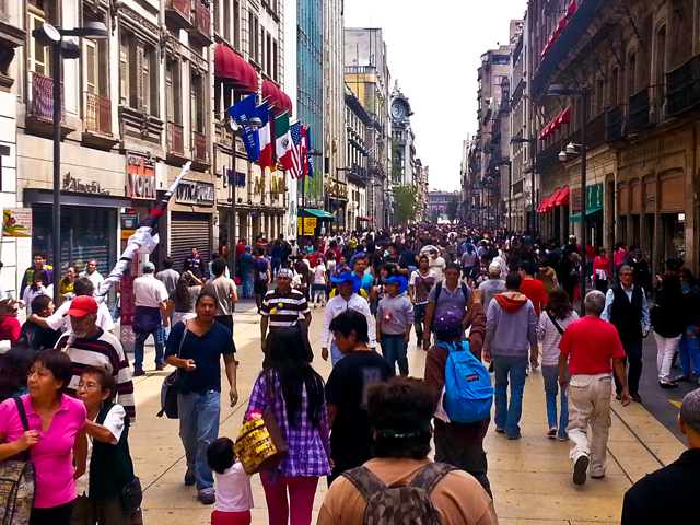 Mexico City's pedestrian-friendly historic downtown